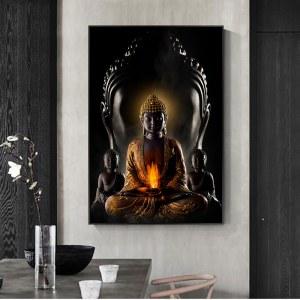 Tableau Bouddha noir Tableau Bouddha Tableau Zen