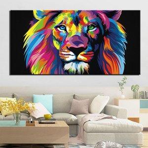 Tableau lion pop-art Tableau Lion Tableau Animaux