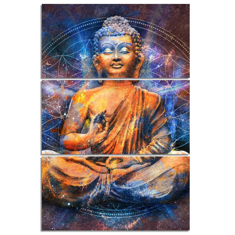 Tableau Bouddha cosmique