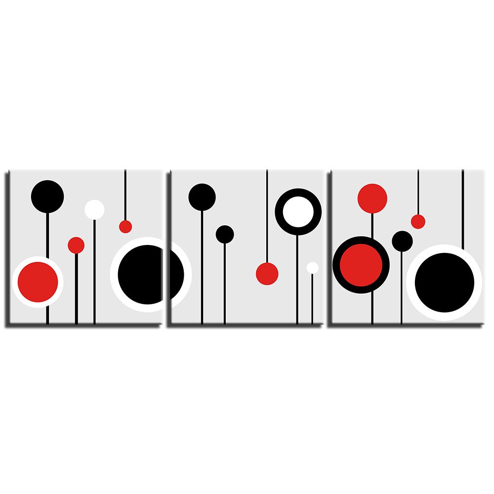 Tableau ronds rouge et noir