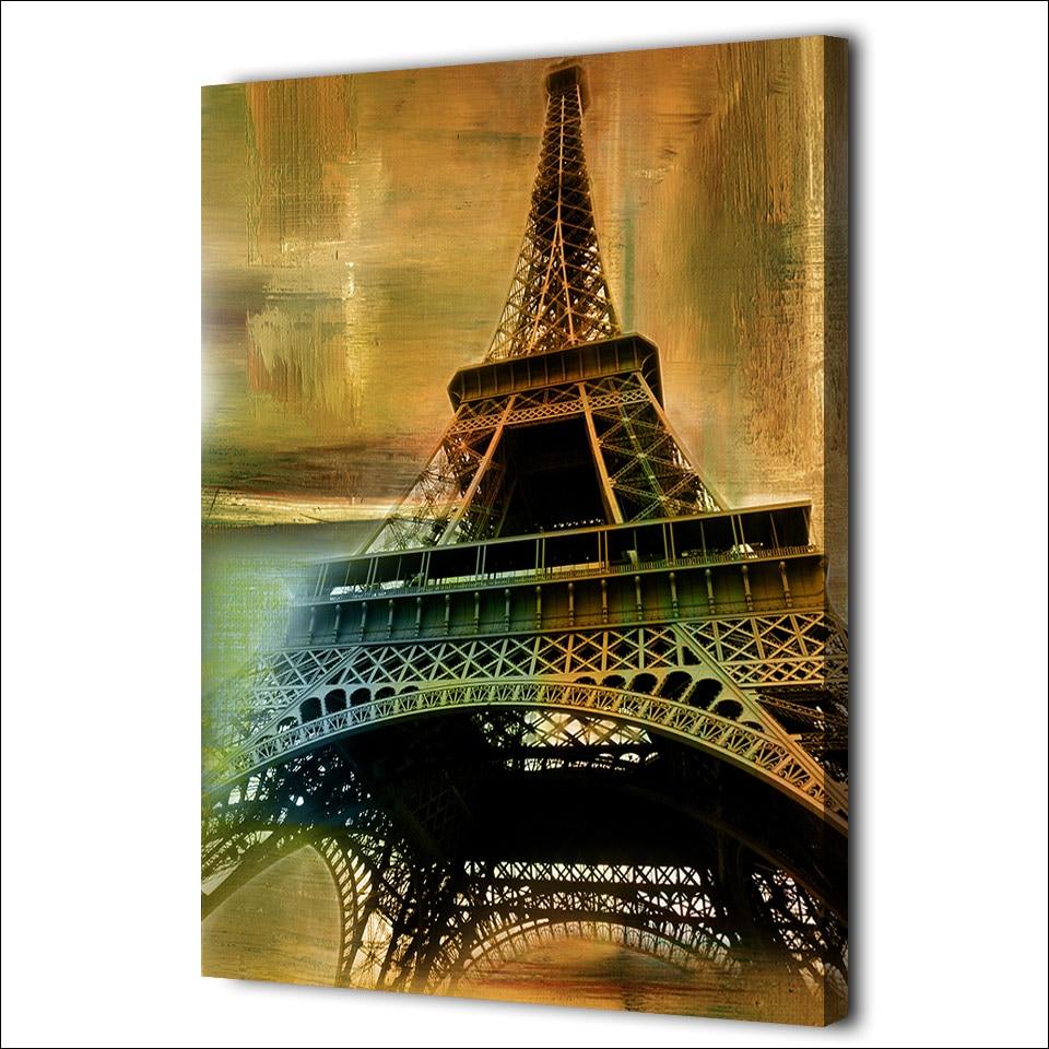 Tableau tour Eiffel vintage