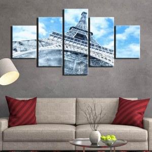 Tableau tour Eiffel vue du dessous