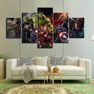 Tableau Avengers 5 pièces
