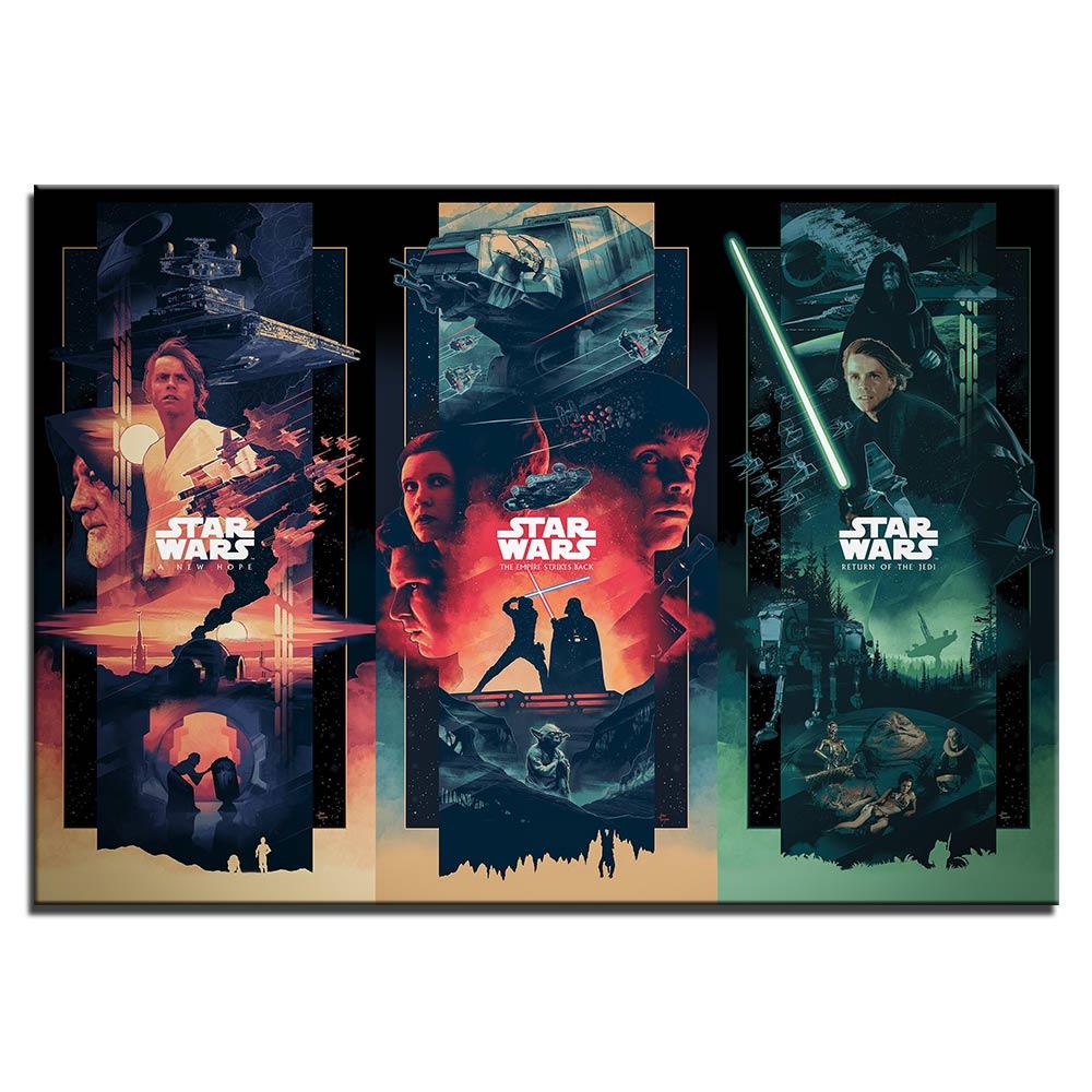 Tableau affiches trilogie originale Star Wars