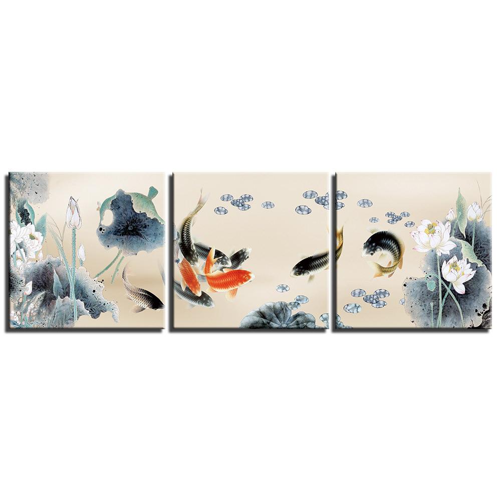 Tableau Feng Shui & Carpes Koï