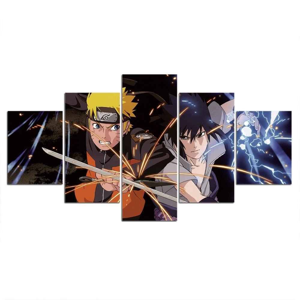 Tableau Naruto Uzumaki et Sasuke Uchiha