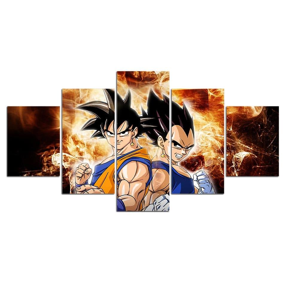 Tableau Son Goku et Vegeta