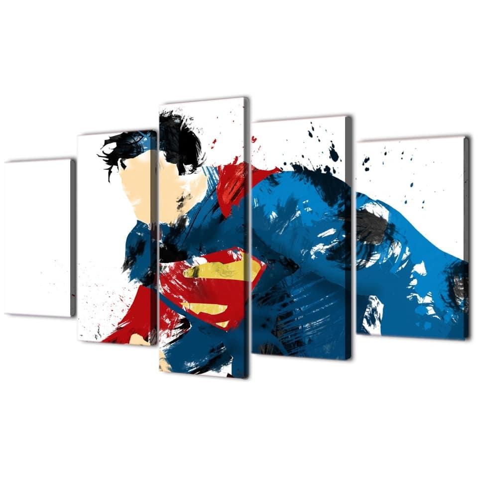 Tableau Superman abstrait