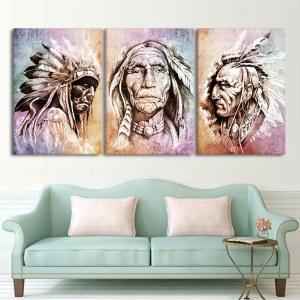 Tableau chef de tribu Amérindienne