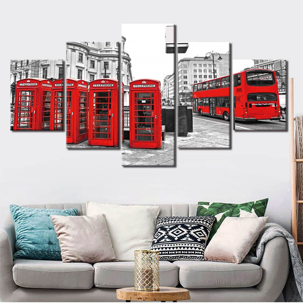Tableau détails rouge de Londres
