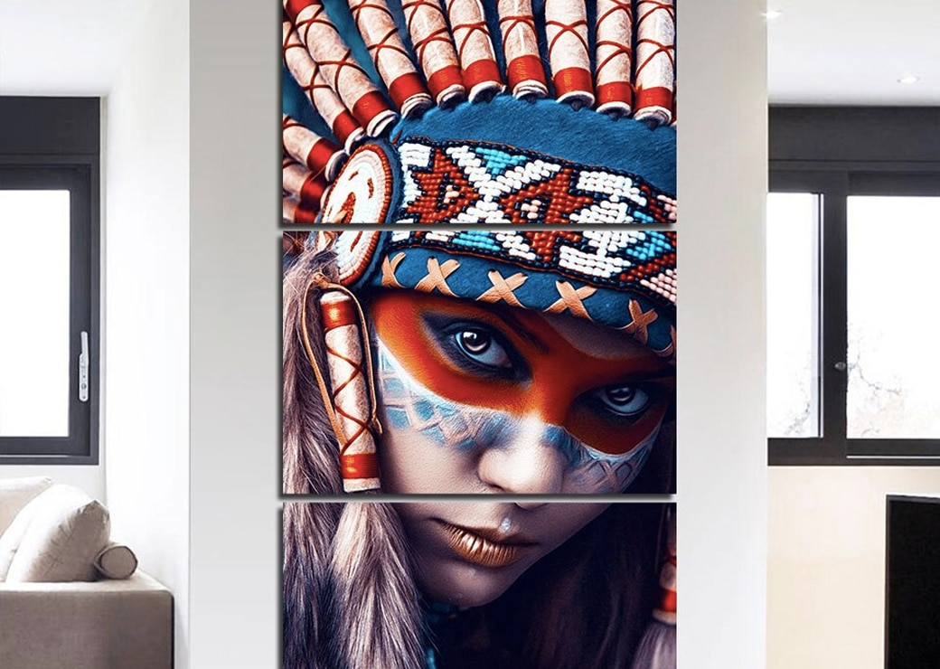 Tableau femme autochtone Amérindienne