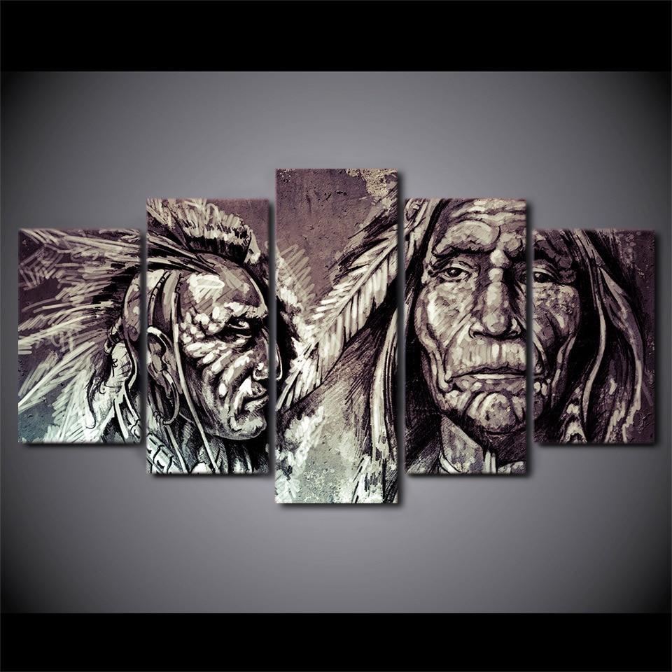 Tableau guerriers Amérindiens