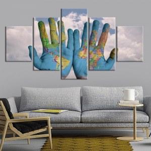 Tableau mains du monde