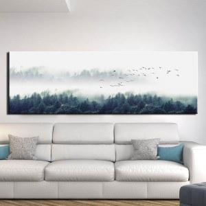Tableau montagne dans le brouillard Tableau Montagne Tableau Nature Tableau Paysage