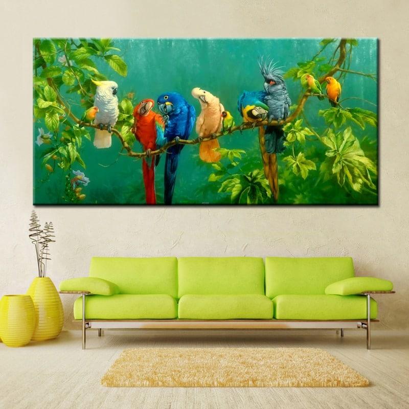 Tableau oiseaux exotiques