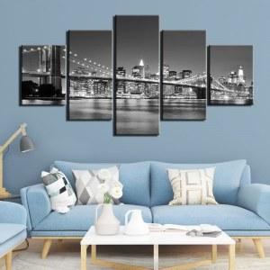 Tableau pont de Brooklyn noir et blanc Tableau New York Tableau Ville