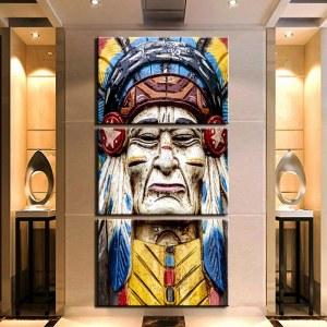 Tableau statue Amérindien