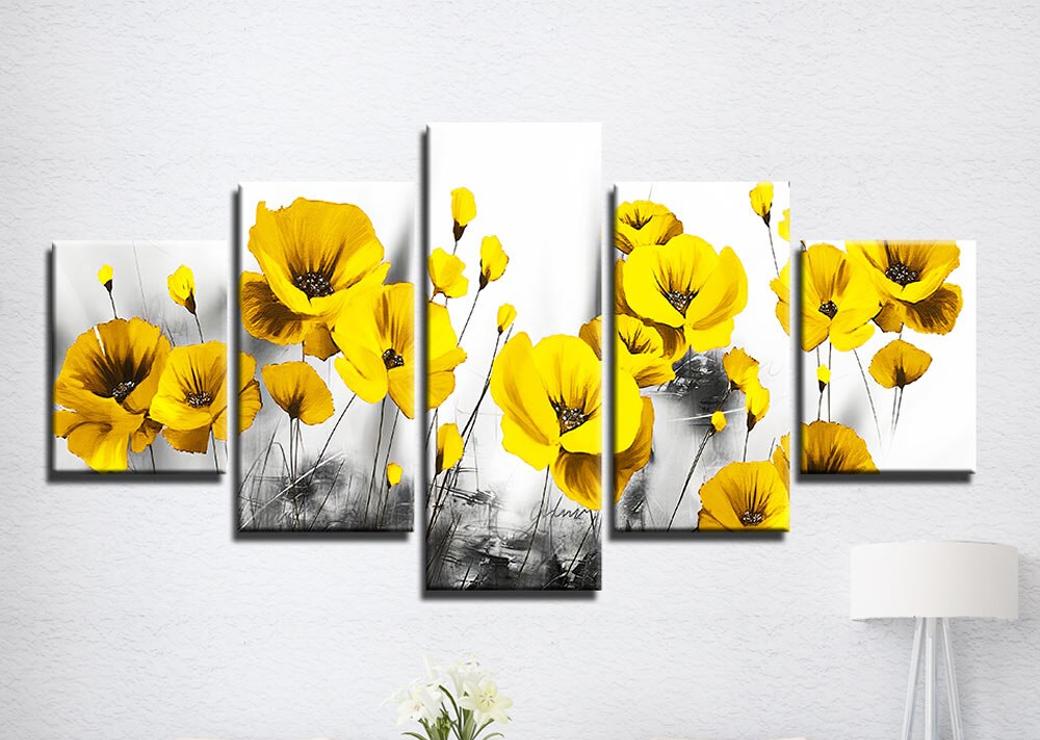 tableau-coquelicot-jaune