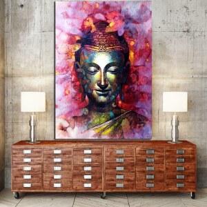 Tableau Bouddha rose