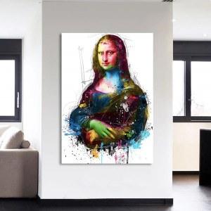 Tableau Mona Lisa abstrait