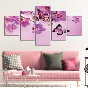 Tableau Papillons Rose