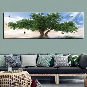 Tableau arbre et papillons