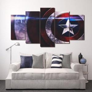 Tableau bouclier Captain America