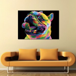 Tableau bouledogue pop