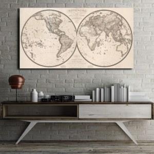 Tableau carte du monde antique 1820