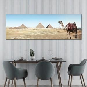 Tableau chameau et pyramides