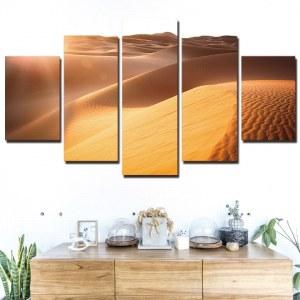 Tableau dunes de sable dans le désert