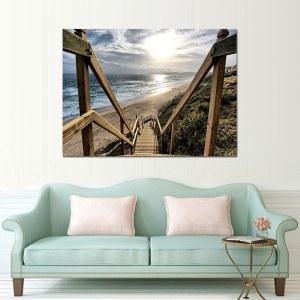 Tableau escaliers de plage
