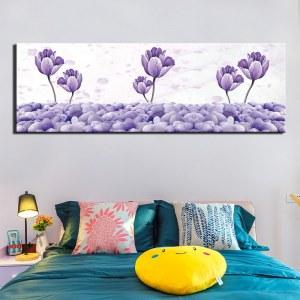 Tableau fleurs bleues