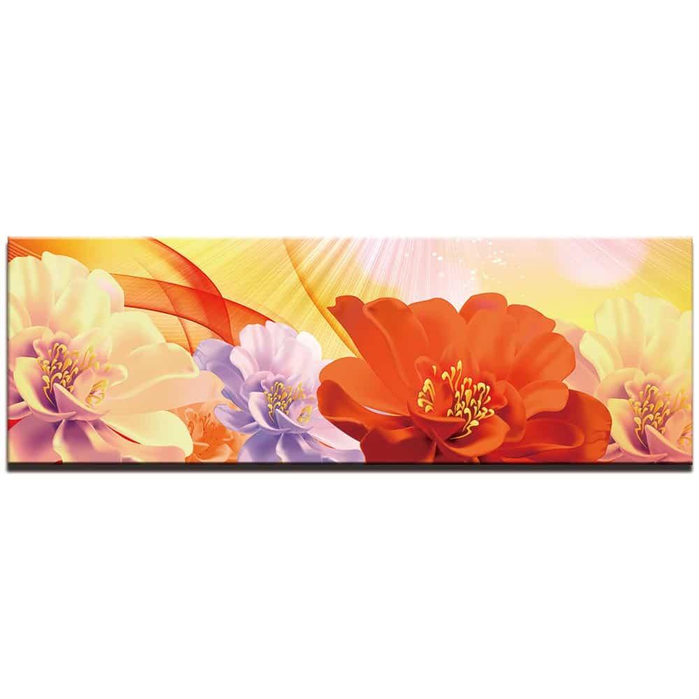 Tableau fleurs zinnia