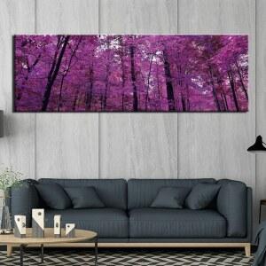 Tableau forêt rose