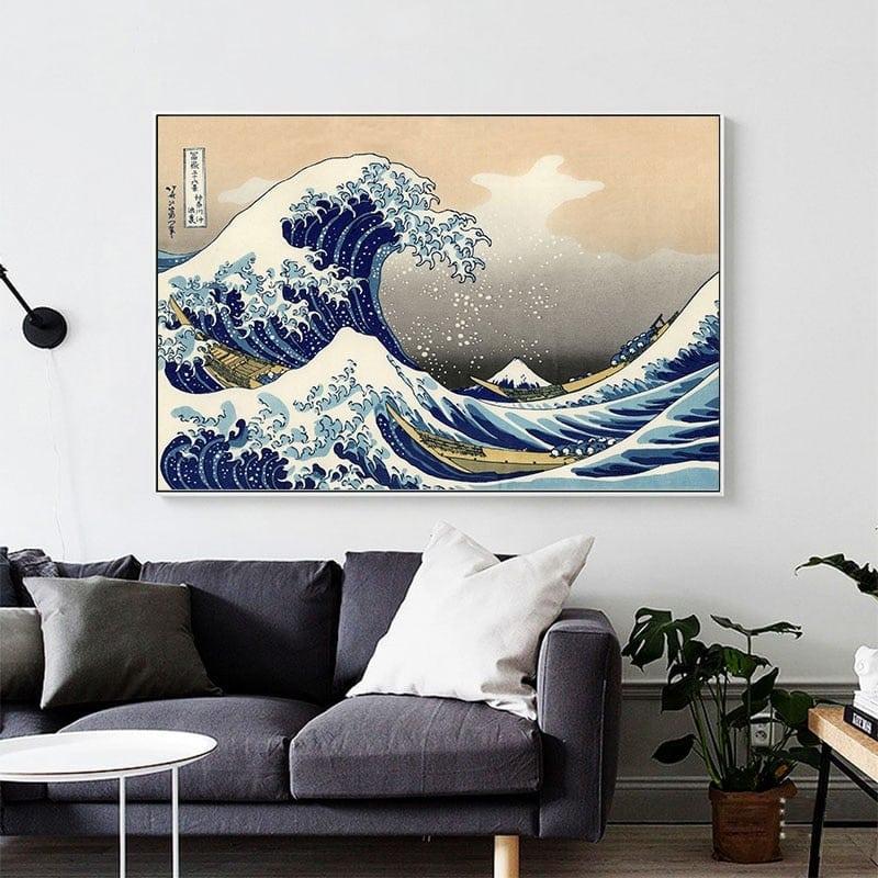 Tableau grande vague de kanagawa