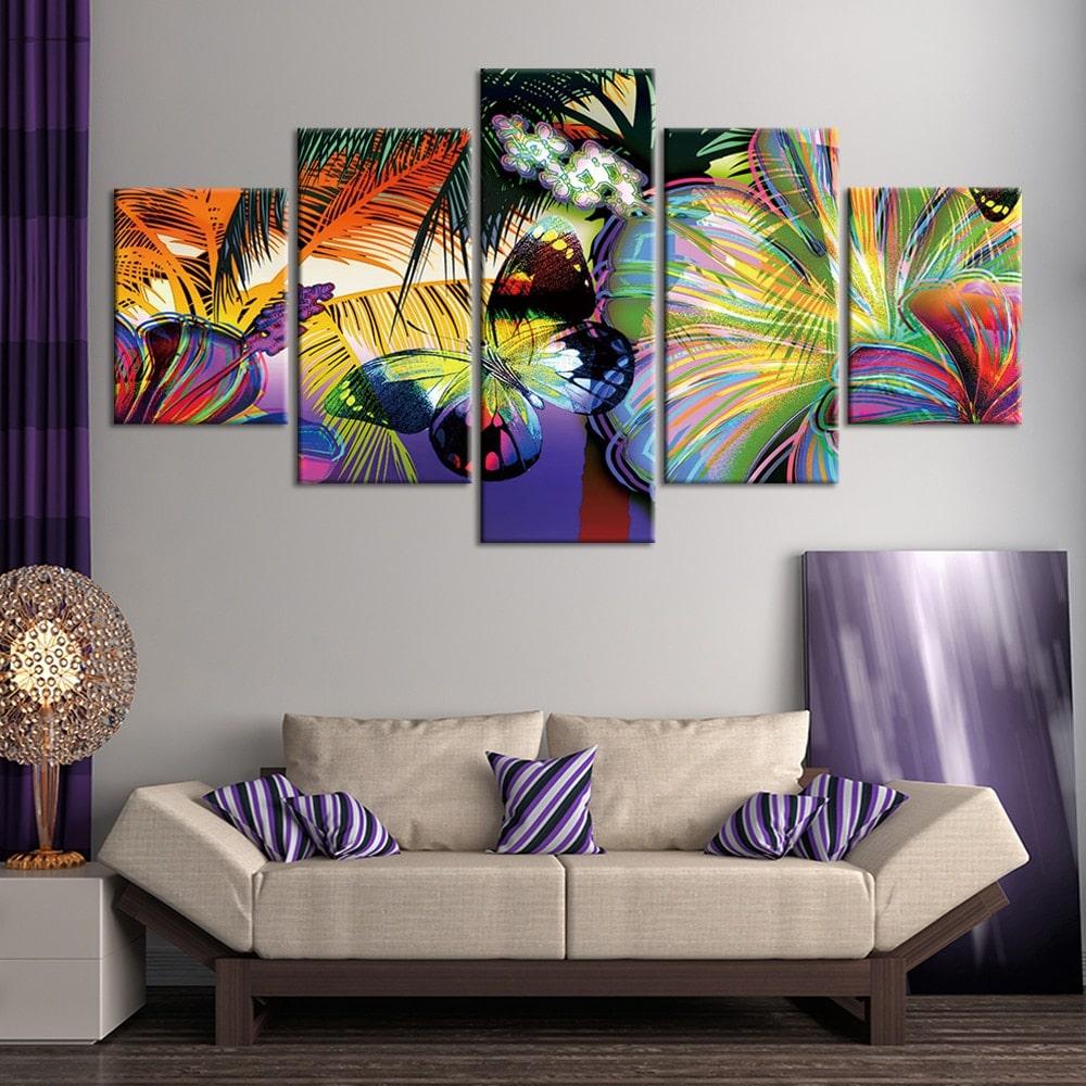 Tableau papillon tropical