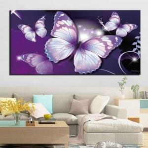 Tableau papillons violets