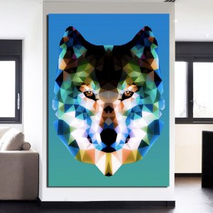 Tableau prisme loup