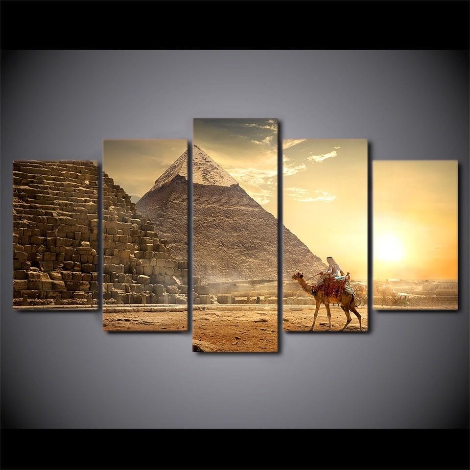 Tableau pyramides et chameau