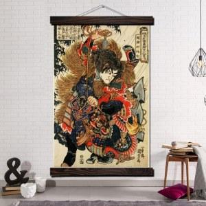 Tableau traditionnel samouraï
