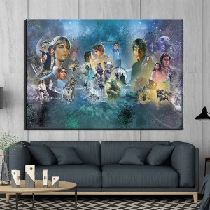 Tableau trilogie originale star wars