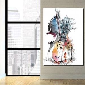 Tableau violon abstrait