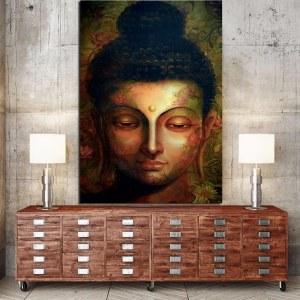 Tableau visage de Bouddha