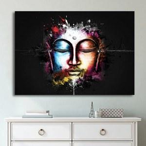 Tableau visage de Bouddha moderne