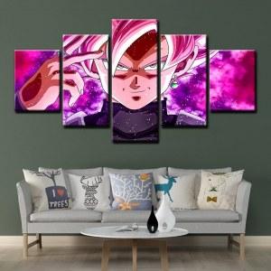 Affiche dragon ball en toile 5 panneaux | Peinture imprimée japonaise, livraison directe, images modulaires, affiche anime F343