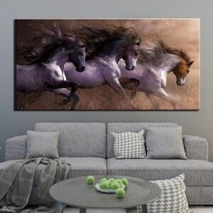 Tableau 3 chevaux courants