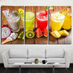 Tableau 4 smoothies fruits