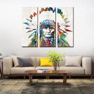 Tableau Amérindien coloré