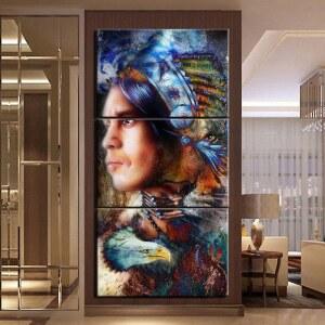 Tableau Amérindien esprit aigle